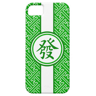 Lucky Mahjong Symbol • Dark Green Cover For iPhone 5/5S