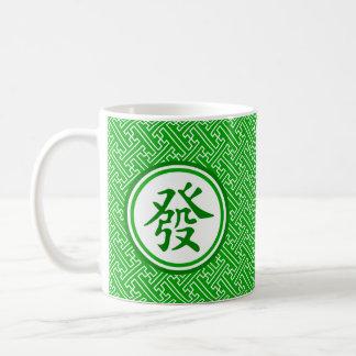 Lucky Mahjong Symbol • Dark Green Coffee Mug
