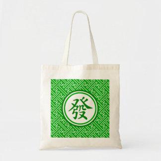 Lucky Mahjong Symbol • Dark Green Tote Bag