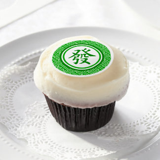 Lucky Mahjong Symbol Edible Frosting Rounds