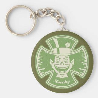 Lucky Maltese Leprechaun Keychain