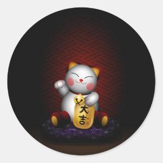 Lucky Maneki Neko Classic Round Sticker