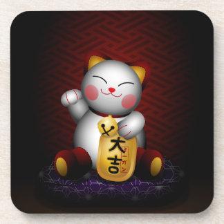 Lucky Maneki Neko Drink Coaster