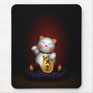 Lucky Maneki Neko Mouse Pad