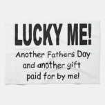 Lucky Me Fathers Day Gift - Funny and Cute Towels