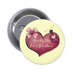 Lucky Me I'm a Grandma Tshirts and Gifts Button