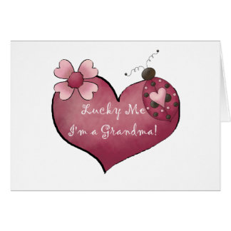 Lucky Me I'm a Grandma Tshirts and Gifts Card