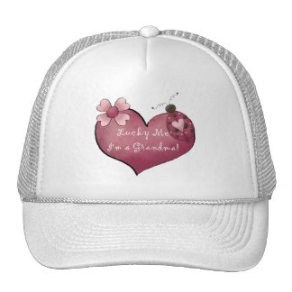 Lucky Me I'm a Grandma Tshirts and Gifts Hat