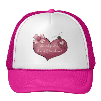 Lucky Me I'm a Grandma Tshirts and Gifts Trucker Hat