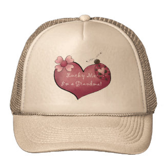 Lucky Me I'm a Grandma Tshirts and Gifts Hats
