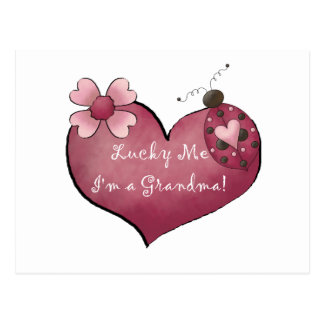 Lucky Me I'm a Grandma Tshirts and Gifts Postcard