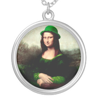 Lucky Mona Lisa Round Pendant Necklace