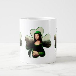 Lucky Mona Lisa Shamrock Extra Large Mugs