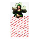 Lucky Mona Lisa Shamrock Picture Card