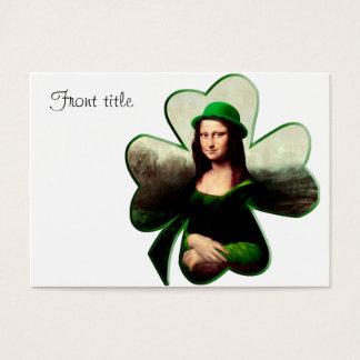 Lucky Mona Lisa St Patrick's Day Shamrock Business Card