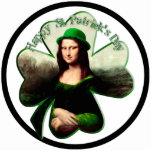 Lucky Mona Lisa St Patrick's Day Shamrock Cut Outs