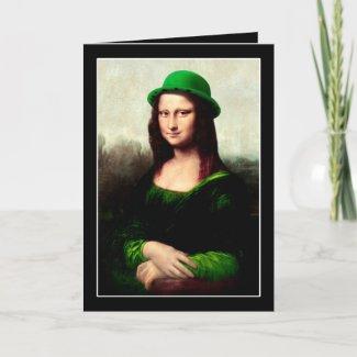 Lucky Mona Lisa (with inside text) card