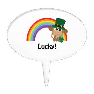 Lucky Monkey Leprechaun Cake Topper