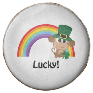 Lucky Monkey Leprechaun Chocolate Dipped Oreo
