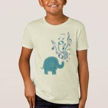lucky musical notes elephant design T-Shirt