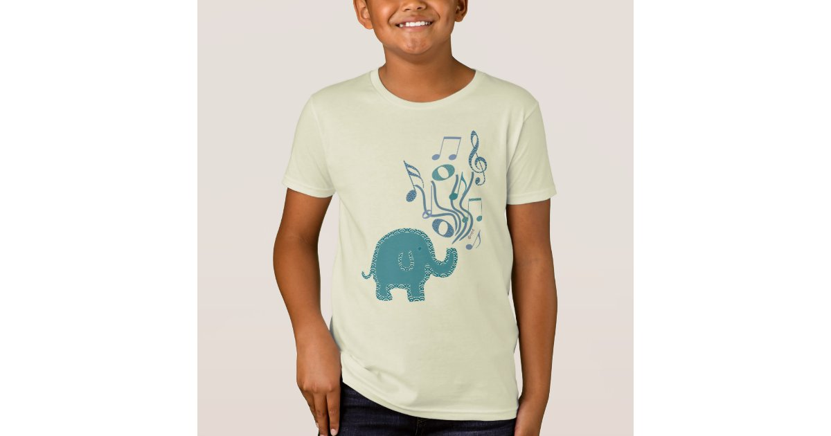 Lucky Musical Notes Elephant Design T Shirt Zazzle