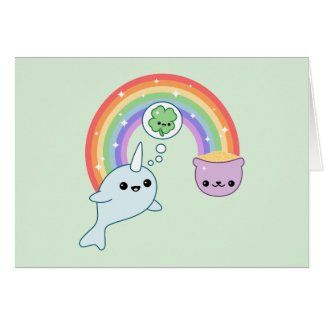 Lucky Narwhal Card