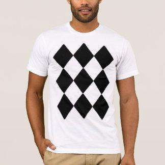 Lucky Nine Black Diamonds in Three Rows of Three T-Shirt