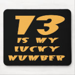 'Lucky Number 13' Mousepad