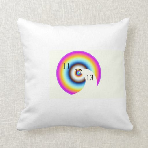Throw Pillows With Numbers : Lucky Number 13 Throw Pillow Zazzle