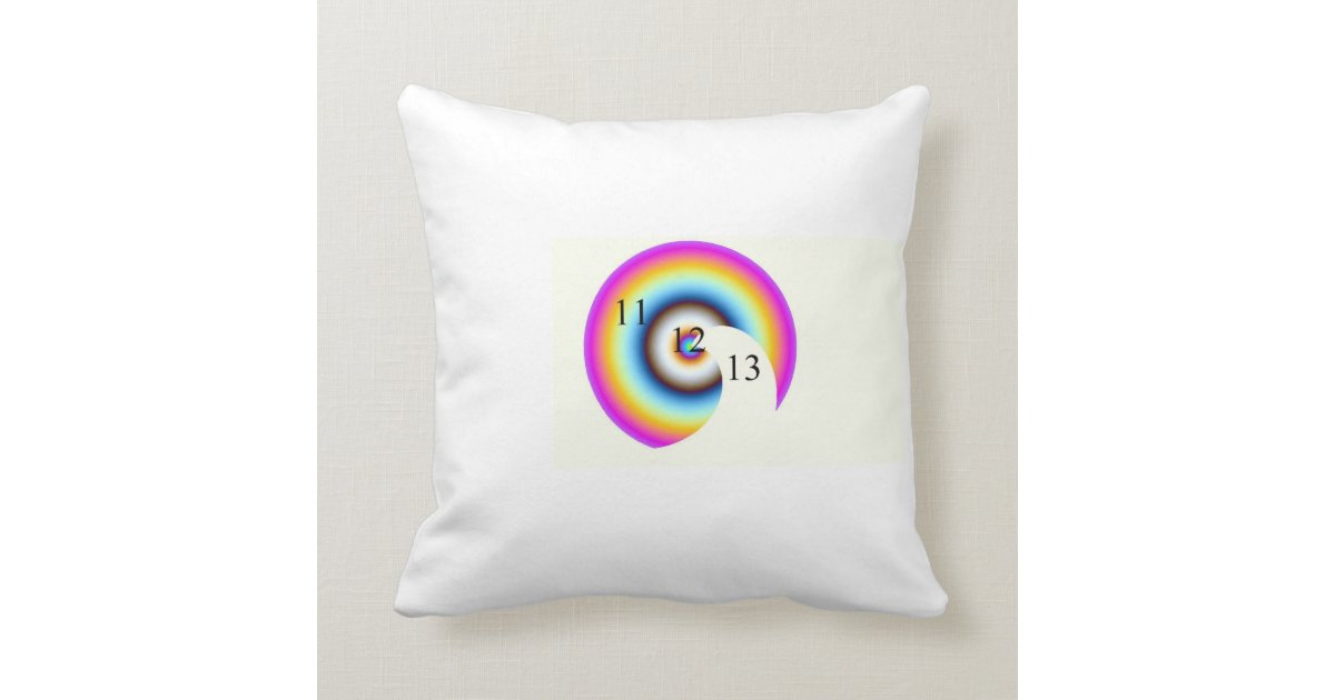 Lucky Number 13 Throw Pillow Zazzle