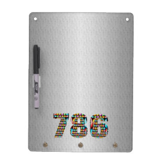 Lucky Number 786   Siliver Chrome Sparkle Shade Dry-Erase Board