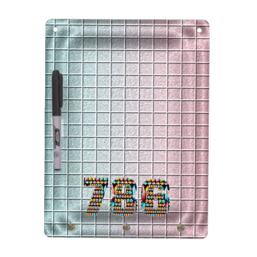 Lucky Number 786   Square Pattern Dry-Erase Board