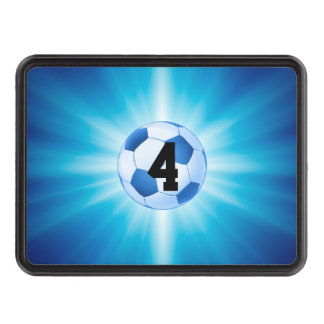 Lucky Number Blue Soccer | Football Tow Hitch Cover
