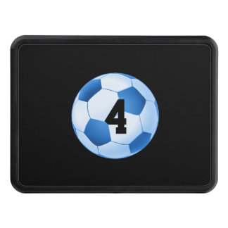 Lucky Number Blue Soccer | Football Trailer Hitch Covers