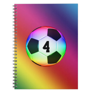 Lucky Number Colorful Soccer | Football Notebook