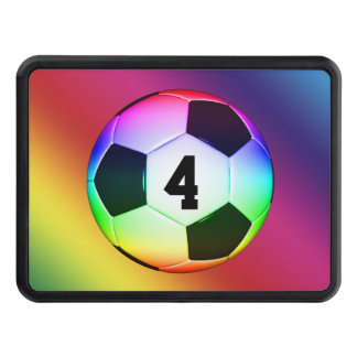 Lucky Number Colorful Soccer | Football Hitch Covers