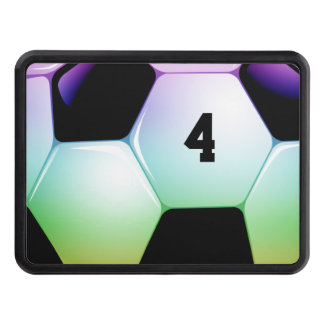 Lucky Number Colorful Soccer | Football Trailer Hitch Cover