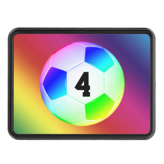 Lucky Number Colorful Soccer | Football Tow Hitch Cover