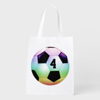 Lucky Number Colorful Soccer | Football Sport Bag