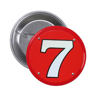 Lucky Number Seven Pinback Button