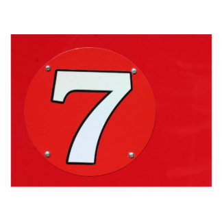 Lucky Number Seven Postcard