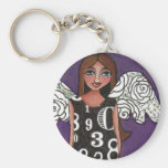 LUCKY NUMBERS ANGEL - a blessed keychain