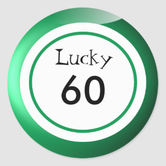Lucky Numbers Bingo Balls Themed Classic Round Sticker