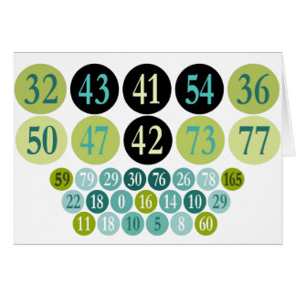 Lucky Numbers, fashion design, template