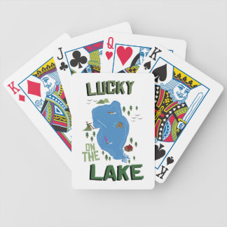 Lucky On Lake Bicycle Playing Cards