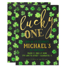 Lucky One | St. Patrick's Day 1st Birthday Card at Zazzle