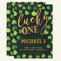 Lucky One | St. Patrick's Day 1st Birthday Invitation