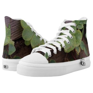 Lucky or Determined? Saint Patricks Day Shamrocks High-Top Sneakers