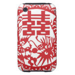 Lucky pattern stand for double happiness iPhone 3 tough covers