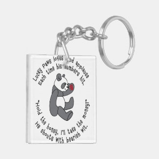 Lucky Paws Key Chain with Lucky Asian Symbol